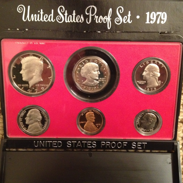 1979-S Type 2, 6-Coin Proof Set with Susan B  Anthony Dollar