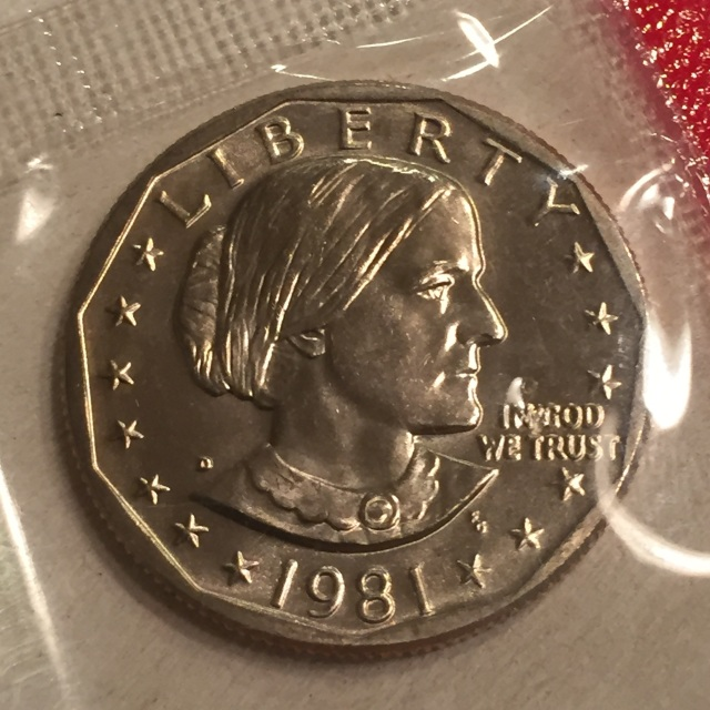 Susan B Anthony Dollar (1979-1981 & 1999)